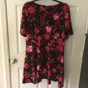 Red & Black Skater Dress